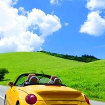 夏のビーナスライン。雲に手が届きそう!爽快ドライブ♪