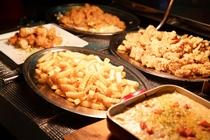 和洋食の夕食バイキング