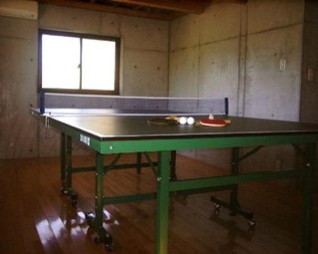 「木蓮」の卓球場