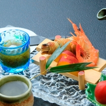 夏の最上級会席【月花】 前菜には旬が満載
