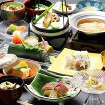 和食会席「桐コース」の一例(2017年8月~)