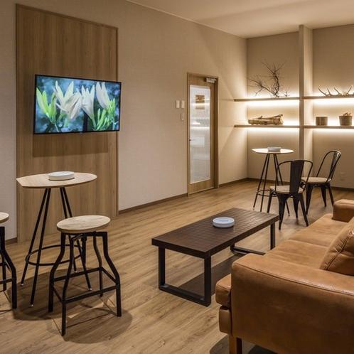 【喫煙スペース】当館は全室禁煙でございます。1Fの喫煙スペースをご利用ください。