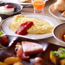 【朝食】朝食メニューの一例