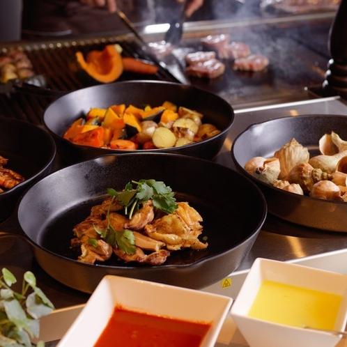 【夕食】ブッフェの一例