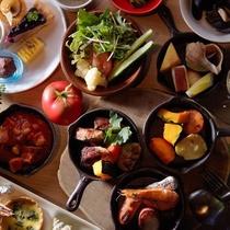 【夕食】ツリーサイドブッフェの一例