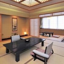 ■和洋特別室■『花の間』12.5畳+4.5畳+寝室+檜内風呂