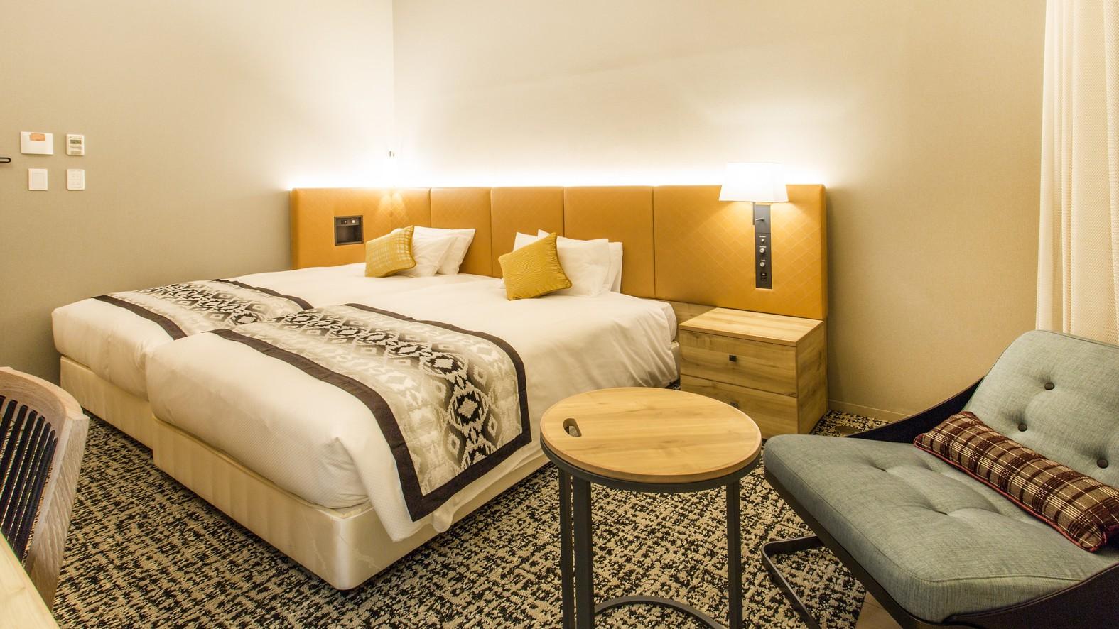 [ミュッセツイン] 23.7m2 ベッド幅120cm2台(ベッド2台がくっついているタイプです)