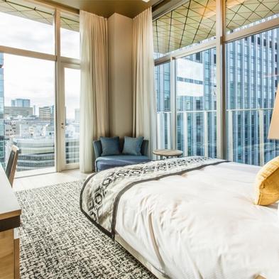 【 最上階確約 】 開放感のある3.5mのガラス窓で大人の寛ぎプラン(素泊り)