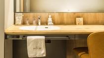 ダブルルーム・ツインルームの洗面台(室内に設置されています)