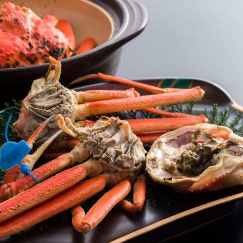 タグ付き松葉蟹の土鍋蒸し