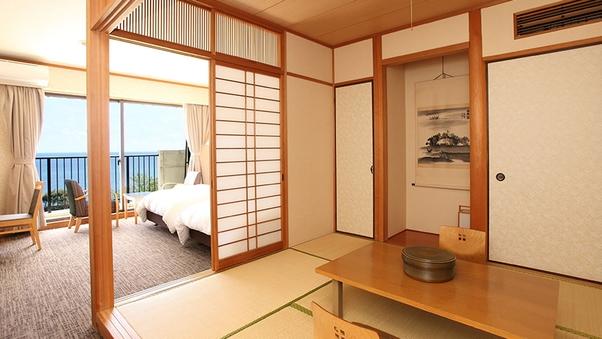 【本館 和洋室】ベッド&布団の部屋(6畳+ツイン)(禁煙)