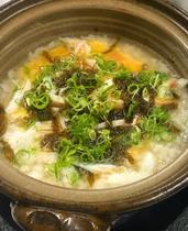 蟹鍋御膳〆の蟹雑炊