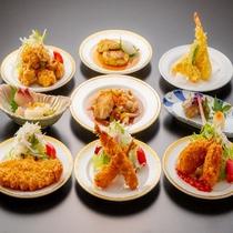 希星定食は、9種の主菜から2種をチョイスできます♪