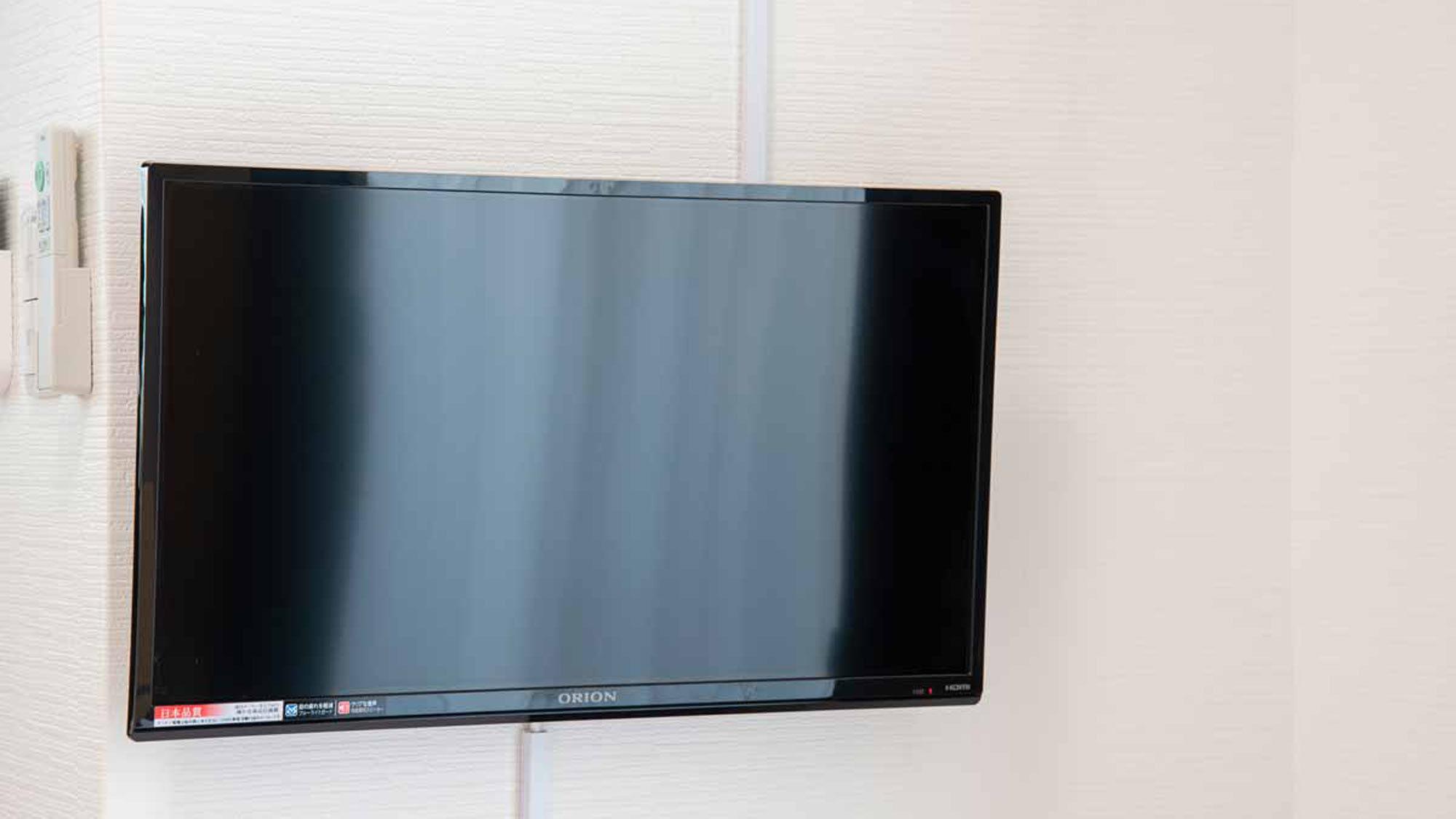 *全部屋共通/お部屋のTVは壁掛けです。