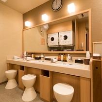■女性浴場 洗面台