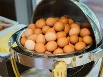 地元産の卵。黄身は濃厚でお薦めです♪
