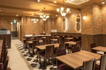 【レストラン】ブルックリンスタイルを思わせるちょっぴりレトロな要素を取り入れております♪