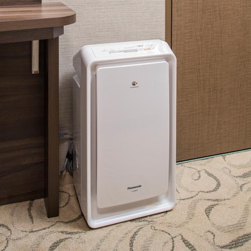 全室にナノイー空気清浄機を採用