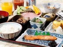 朝食は日替わりの和定食です。