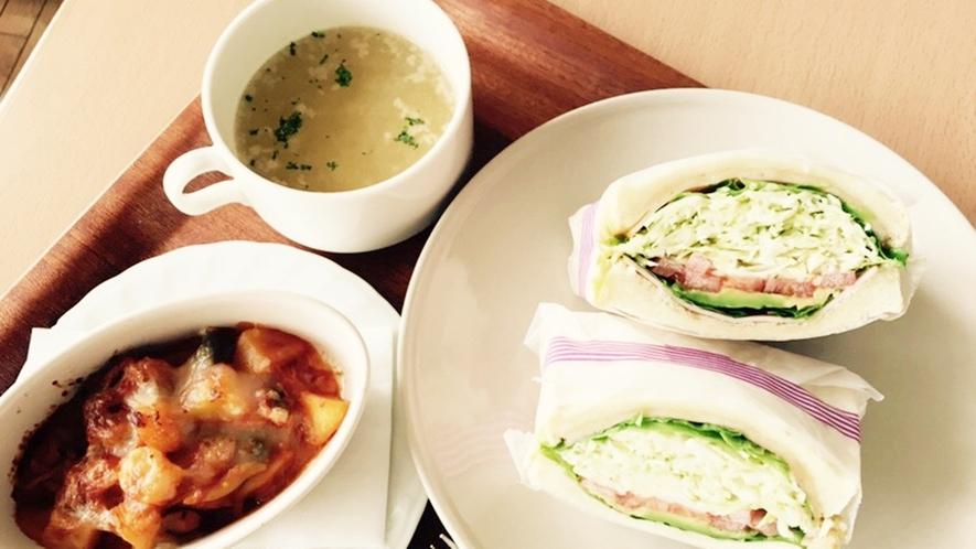 *【日替わりランチ一例】神石高原町の旬の食材を使っています