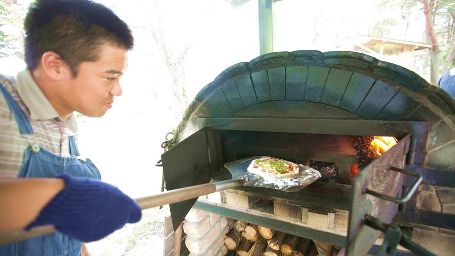 *【ピザ作り体験】ピザ釜で本格的に焼き上げます