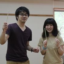 【月替わりの無料体験】★竹細工体験★完成しました~!チェックアウト後に、体験を行っています!