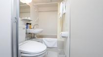 客室ユニットバス 全室個別トイレ(温水洗浄便座)・バス付き
