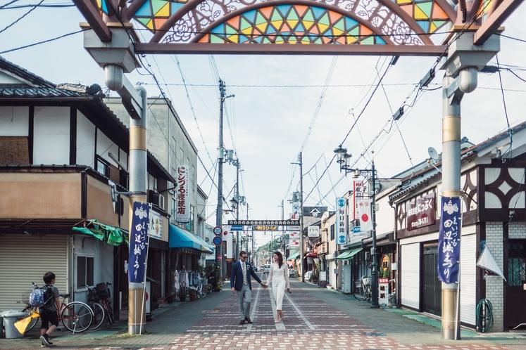 平野屋商店街・レトロ銭湯若の湯周辺
