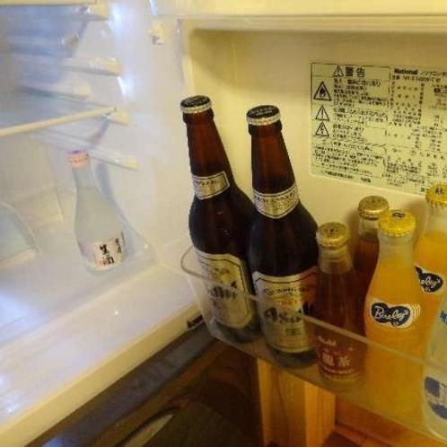 お部屋の冷蔵庫内のドリンク例