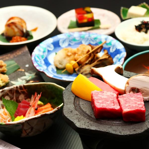 ■地産地消贅沢に味わうグレードアップ料理一例