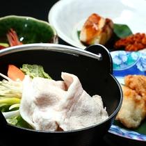 ■富士桜ポークのお鍋をはじめとしたスタンダード料理一例