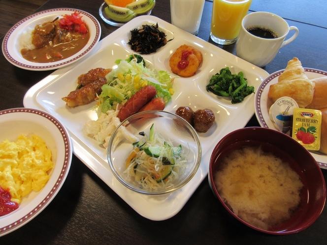 朝食盛り付け例2