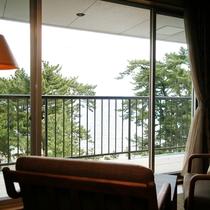 【和みフロア】展望檜風呂付特別室Bからの眺望