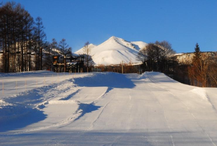 オープン前 夜明けのMt.乗鞍スノーリゾート。