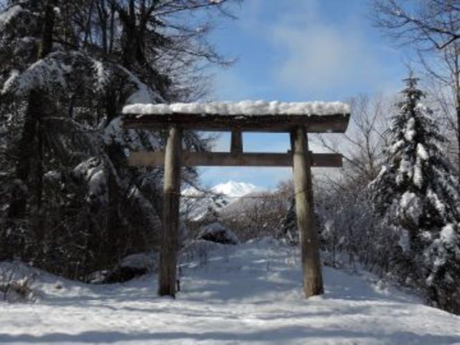 冬の梓水神社