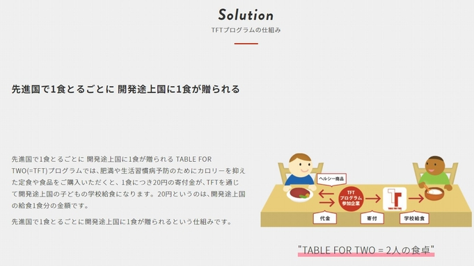 【SDGs】山家荘×ミニマルリビングトーキョー×TABLE FOR TWO コラボプラン