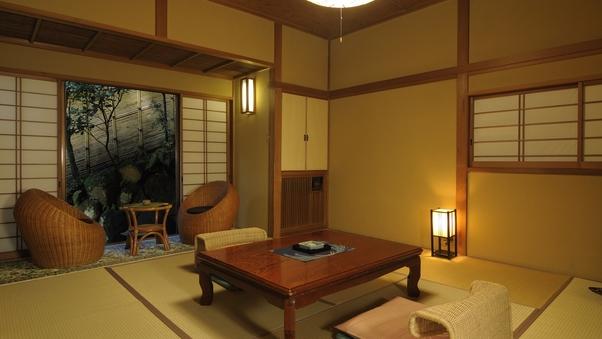 【葵】源泉かけ流しの伊豆石風呂付離れ 和室9畳+次の間4畳