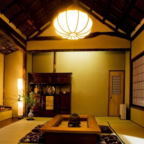 """玄関横にある""""茶寮""""です。近くにコーヒー、紅茶のマシンをご用意しております"""