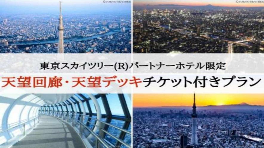 東京スカイツリー(R)天望回廊(450m)・天望デッキ(350m)日時指定入場券付き宿泊プラン