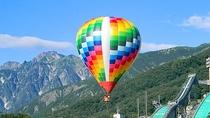 *【白馬アクティビティ】熱気球に乗って北アルプスの絶景を360度堪能できます。
