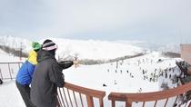 *白馬五竜スキー場(エイブル白馬)/お天気がいい日には北アルプスの絶景が楽しめます。