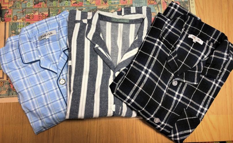 男性用パジャマM、L、LL
