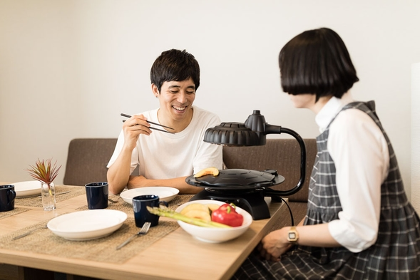 2名様まで ☆カップルにおすすめ キッチン付き35平米以上の広い客室でのんびりステイ