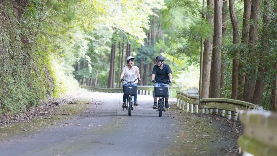 レンタル電動サイクル:3時間・1000円(税別)で自転車のレンタルもございます。気分転換に♪