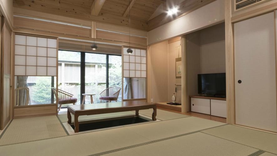 【和プレミアム】12畳の和室のお部屋です。バリアフリーのお部屋もご用意しております。