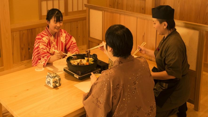ご夕食イメージ:大切な方と語らいながら、千慶自慢のお料理をお召し上がりください。