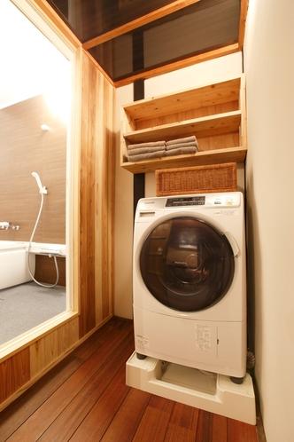 脱衣場、洗濯乾燥機