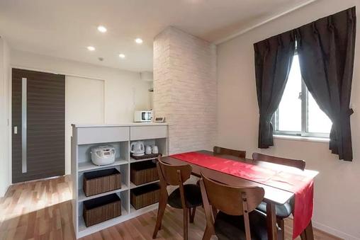 40平米超のキッチン付き1LDKサービスアパートメント。