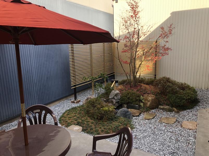 庭園を見ながらのお茶は一興です