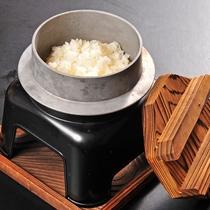 【郷土料理会席】佐賀県はお米作りもさかん。美味しいお米は釜で食べるのが一番!